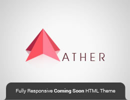 Ather HTML5 Responsive Coming Soon Theme Page Thumbnail