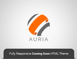 Auria HTML5 Responsive Coming Soon Theme Page Thumbnail