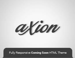 Axion HTML5 Responsive Coming Soon Theme Thumbnail