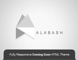 Alabash HTML5 Responsive Coming Soon Theme Thumbnail
