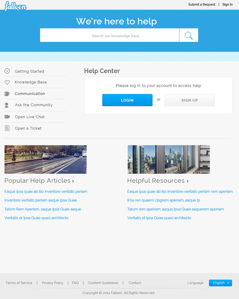 Falleen_HTML_Theme_Home_Page