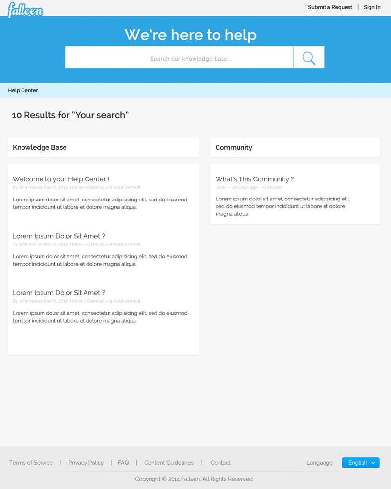 Falleen_HTML_Theme_Your_Search_Page