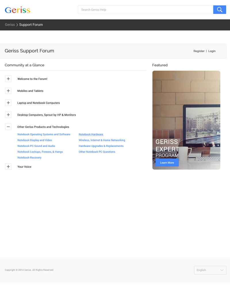 Geriss_HTML_Theme_Support_Forum_Page