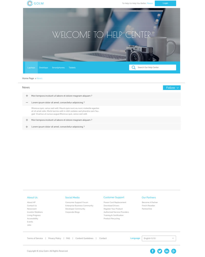 Golm Zendesk Theme Category page Template