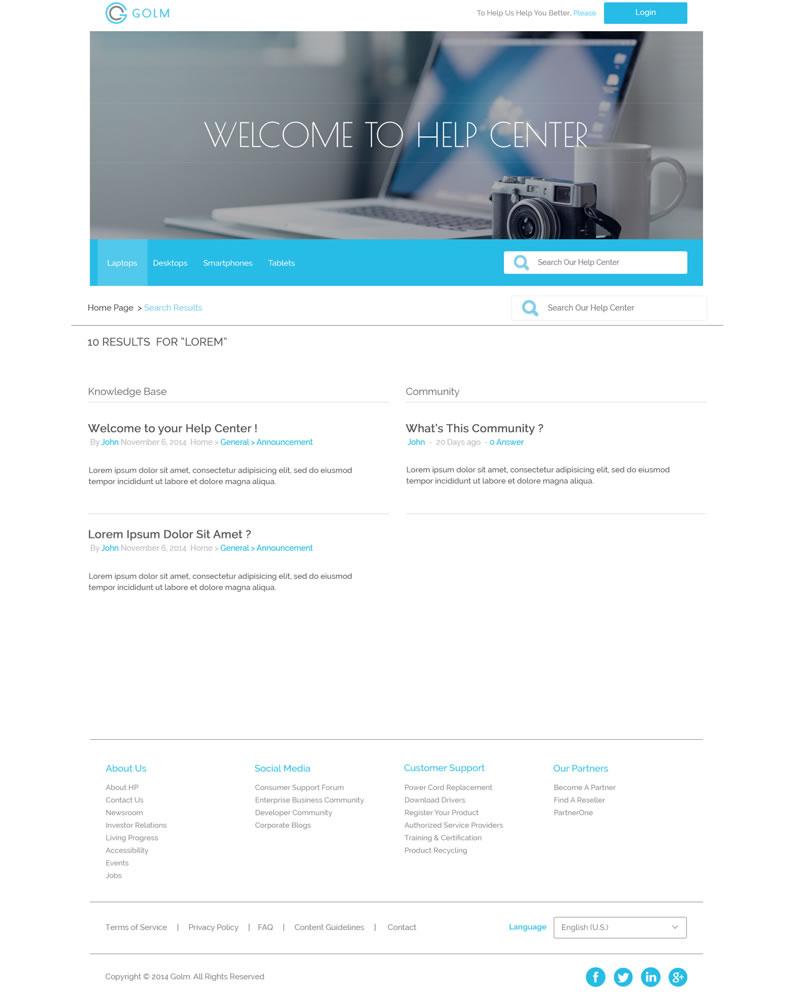 Golm Zendesk Theme Search Template