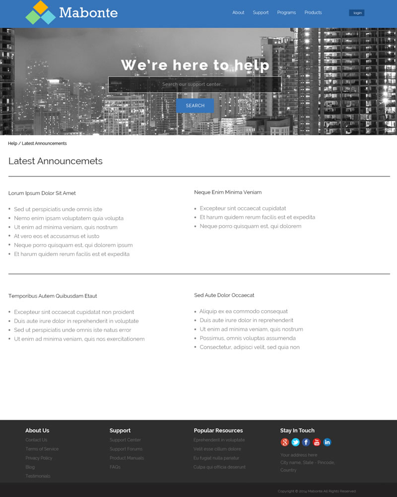 Mabonte Zendesk Theme Category Page Template