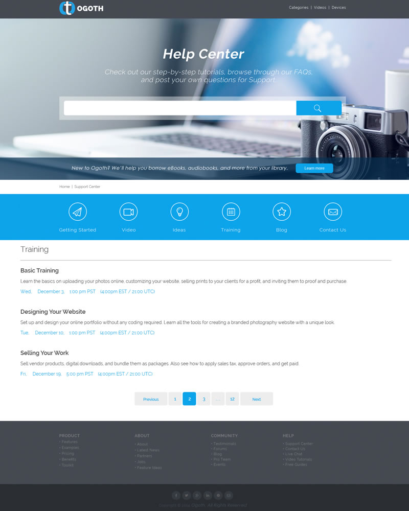Ogoth_HTML_Theme_Training_Page