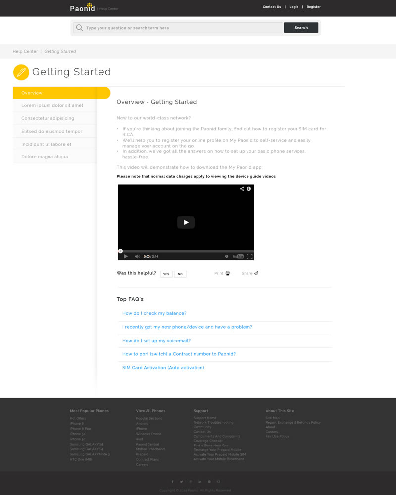 Paonid Zendesk Theme Getting Started Category Template