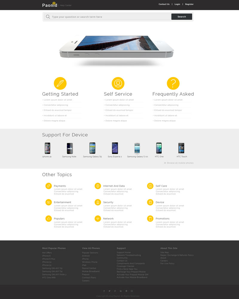 Paonid Zendesk Theme Homepage Template