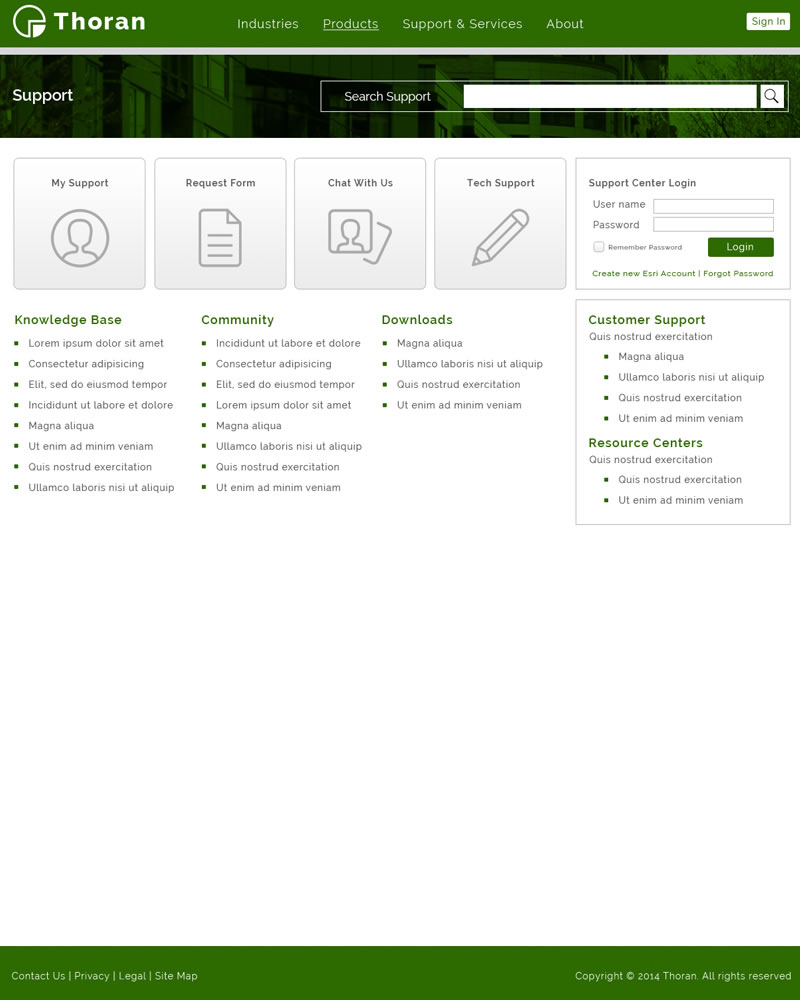 Thoran Zendesk Theme Home Template