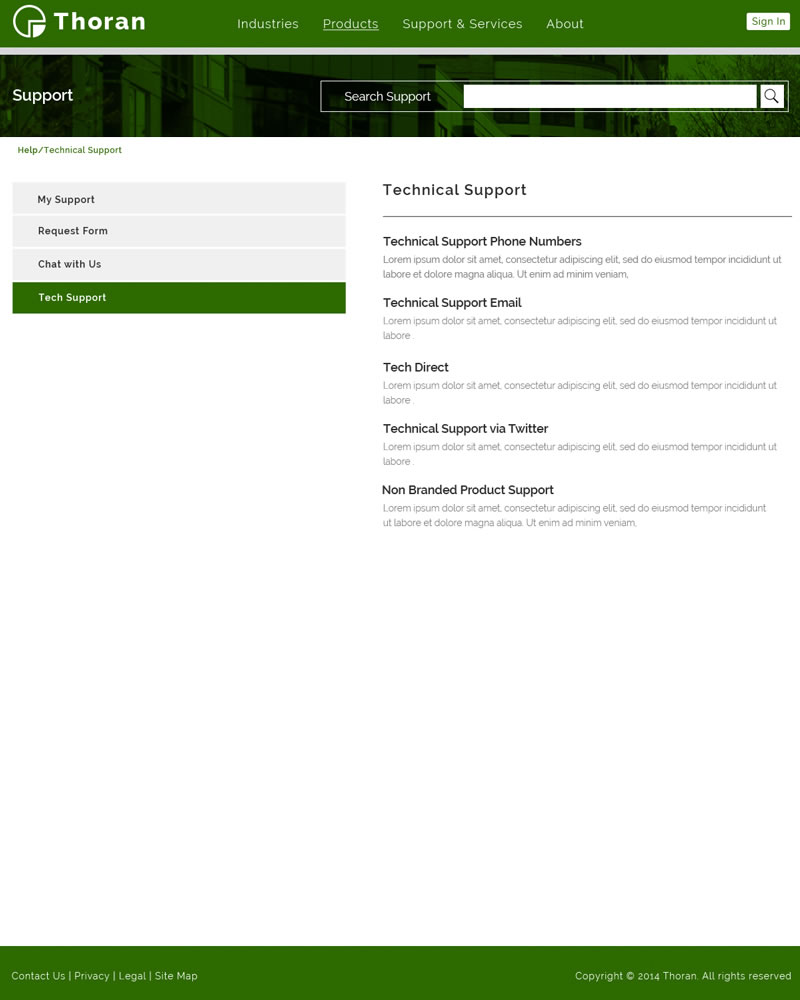 Thoran Zendesk Theme Technical_Support Template